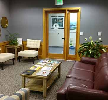 Waiting room at Life Long Dental